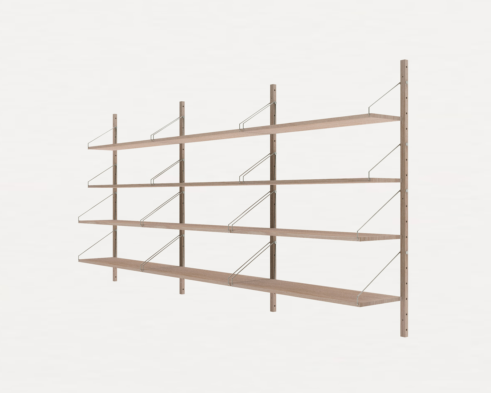 Frama Shelf Library White H1148 Triple Section